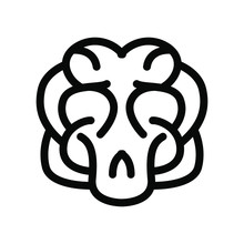 Brain Icon , Idea Vector Illus...