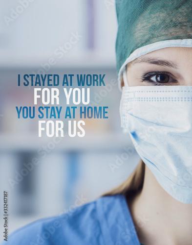 Coronavirus covid-19 awareness campaign and prevention - 332417187