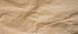 crumpled brown paper background and texture with copy  space.