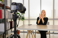 Blond Lady Online Content Crea...