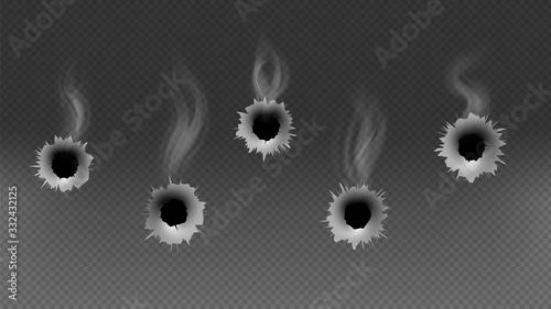 Obraz na plátne Bullet holes