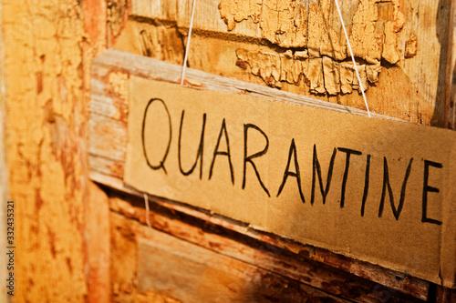 Forced quarantine due to the abrupt spread of coronavirus Canvas Print