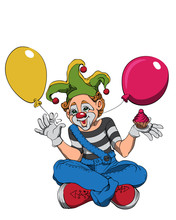 Mime Clown With Cupcake And Co...