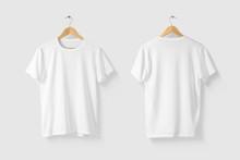 Blank White T-Shirt Mock-up On...