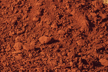 Red Ground Soil Texture In Brazil