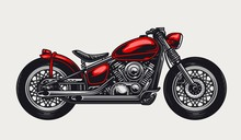 Classic Red Motorcycle Concept