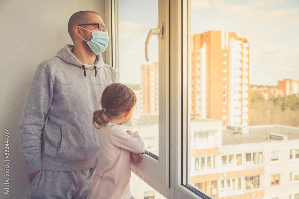 Fototapeta Concept home quarantine