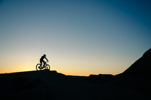 Silhouette Of A Bicycle In The...