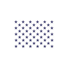 Fifty Stars. Part Of American Flag. Stock Vector Illustration Isolated On White Background.