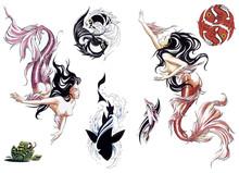 Mermaid Tattoo Set