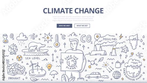 Climate Change Doodle Concept Fototapeta