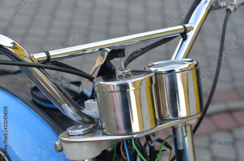 motocykl, silnik, koła, bicykle, metal, auta, łańcuch, auta, stal, motocykl, bie Canvas Print