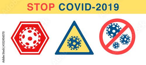Vector anti coronavirus sign Canvas Print