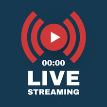 Live Streaming Logo With Play ...