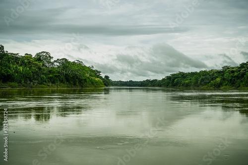 rio azul amazonia verde selva peru Wallpaper Mural