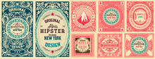 Set Of 8 Vintage Labels. Vecto...
