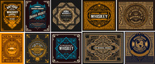 Mega Set Of 10 Vintage Labels. Vector Layered