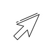 Cursor icon. Simple line, outline vector elements of design tools for ui and ux, website or mobile application