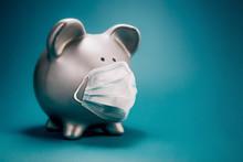 Close Up Of Piggy Bank, Wearin...