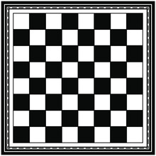 Chess Board In Unusual Frame. Flat Style Stock Vector