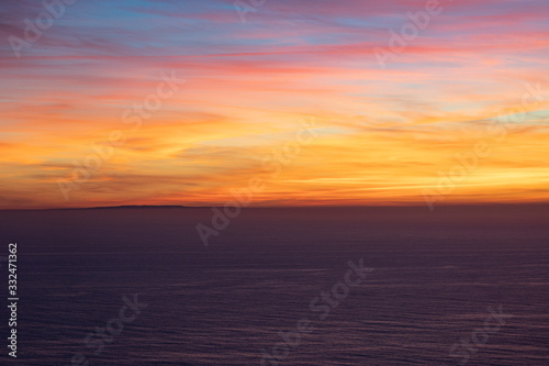 Sunset over San Clemente Island