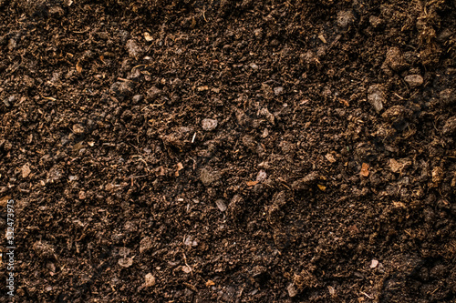 Obraz na plátne Earth ground texture as background, nature and environment