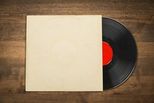 Vinyl Record With The Blank Co...