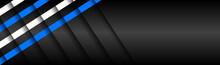 Black Material Design Banner W...