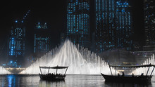 The Dancing Fountain In Dubai. United Arab Emirates.