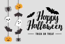 Happy Halloween Background Car...