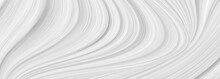 White Background With Waves An...
