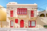 Fototapeta Na drzwi - Malta, Typical narrow streets with colorful balconies in Valletta , Malta