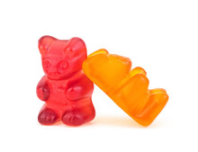 Two Jelly Bear Candies Isolate...