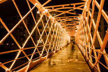 Metal Illuminated Bridge Const...