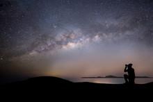 Milky Way Night Panorama With ...
