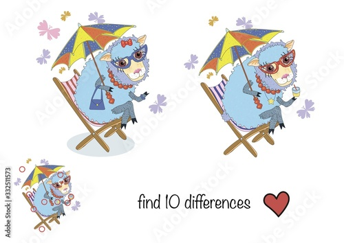 find 10 differences Wallpaper Mural