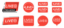 Set Of Live Streaming Icons. R...