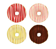 Colorful Donuts Set. Vector Il...