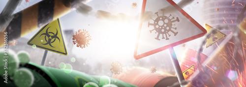 Coronavirus outbreak covid-19 Canvas