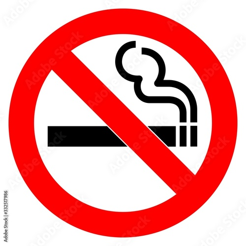 No Smoking Warning Sign Icon Vector Wallpaper Mural