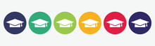Big Set Of Graduation Hat Ico...