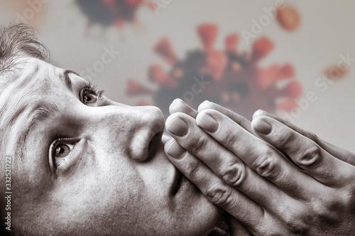 Woman during a prayer Fototapet