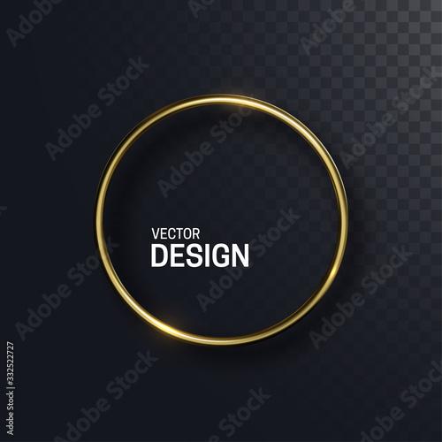 Fototapeta Abstract golden circle shape
