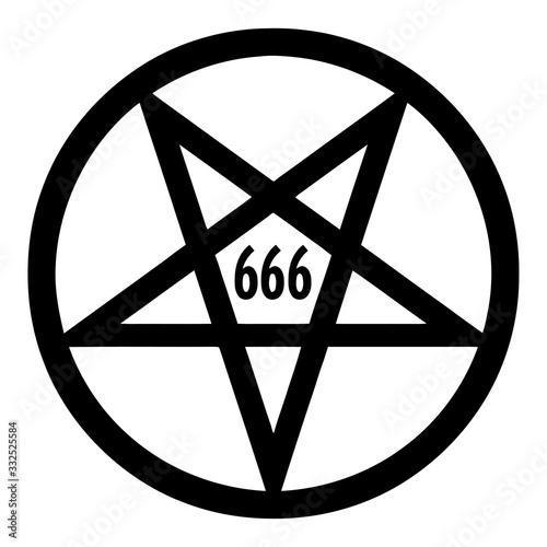 666 Satanic Pentagram Clipart Wallpaper Mural