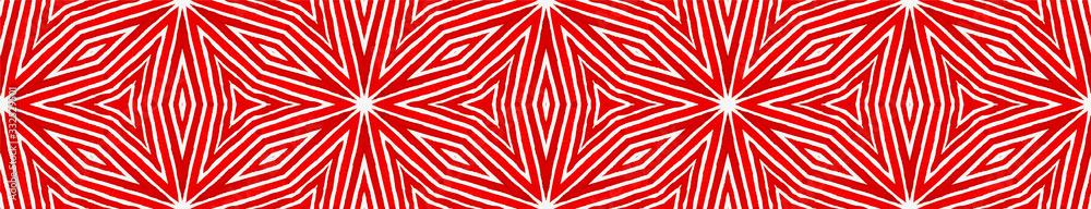 Wine red Seamless Border Scroll. Geometric Waterco
