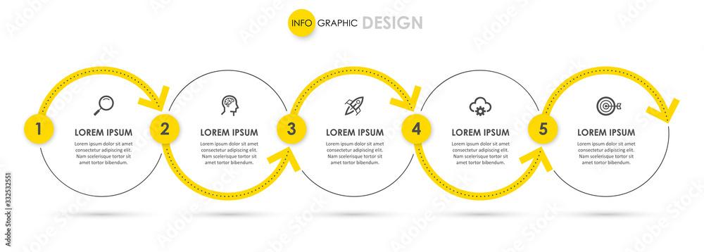 Fototapeta Vector infographic template