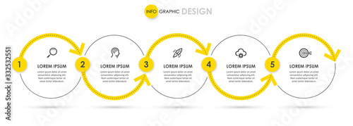 Vector infographic template Canvas-taulu