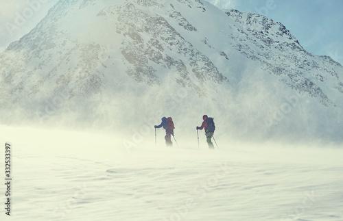 Obraz na plátně skitour Alpen