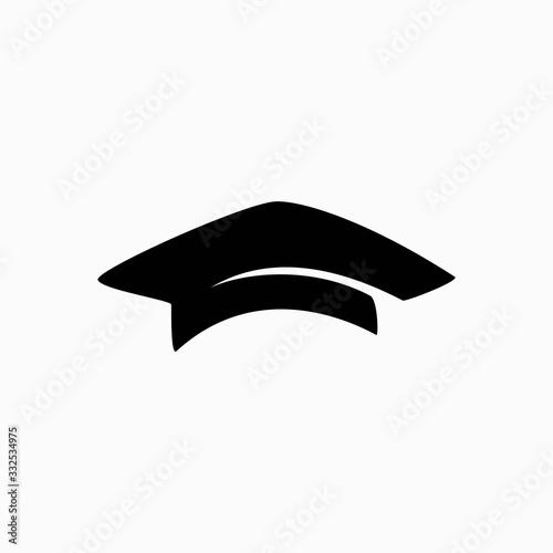 Photo square academic cap vector template