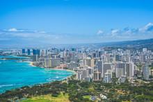 Honolulu Waikiki Beach Panoram...